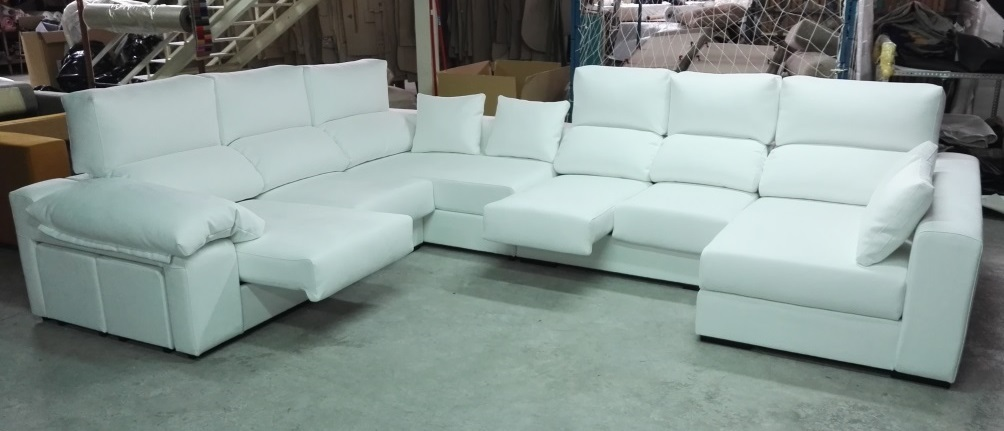 F brica de sof s y colchones sofa rinconera madrid for Sofas baratos madrid outlet