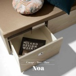 Noa Canapé Abatible de Madera con Cajones